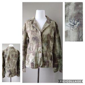 Caribbean Joe Button Blazer Jacket Ladies Size 10
